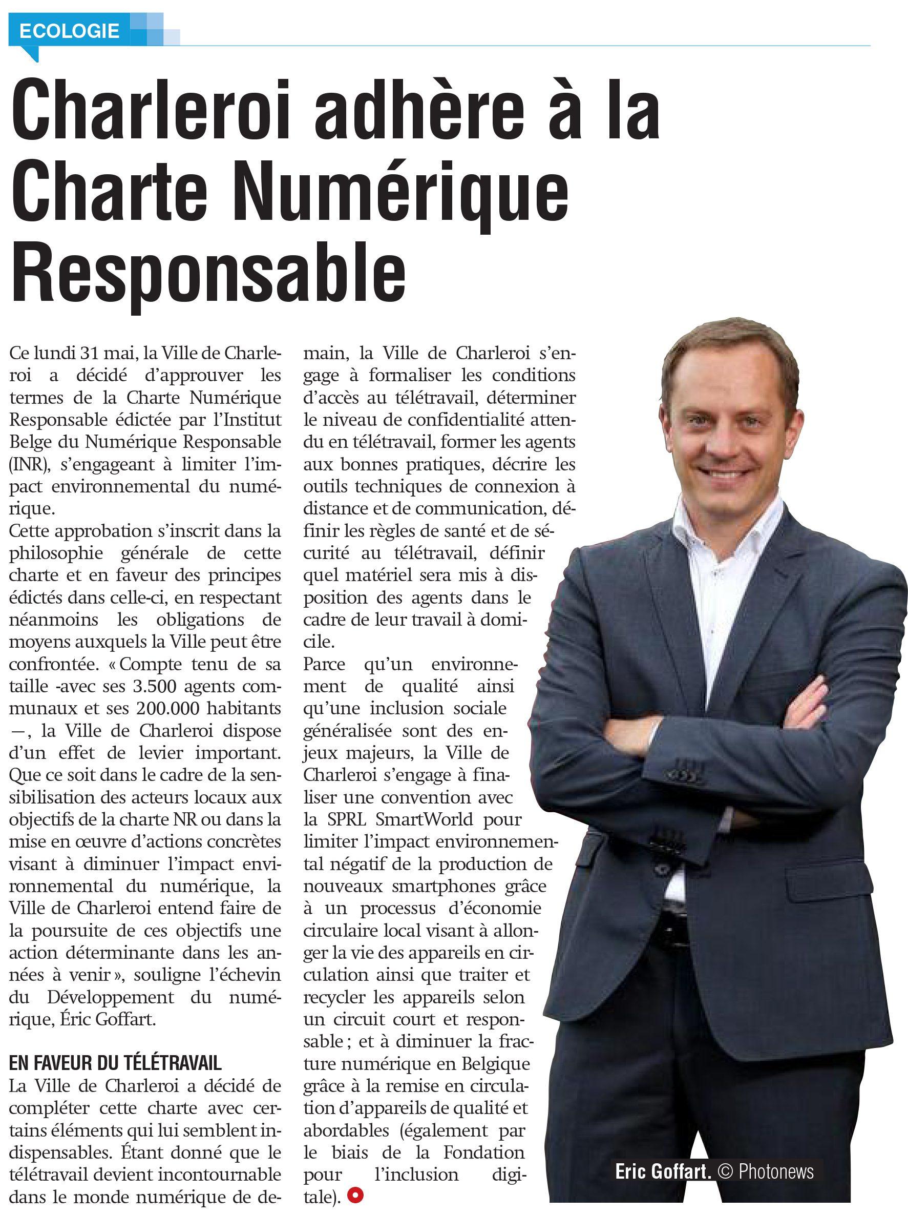 Eric Goffart - Charte numérique responsable à Charleroi